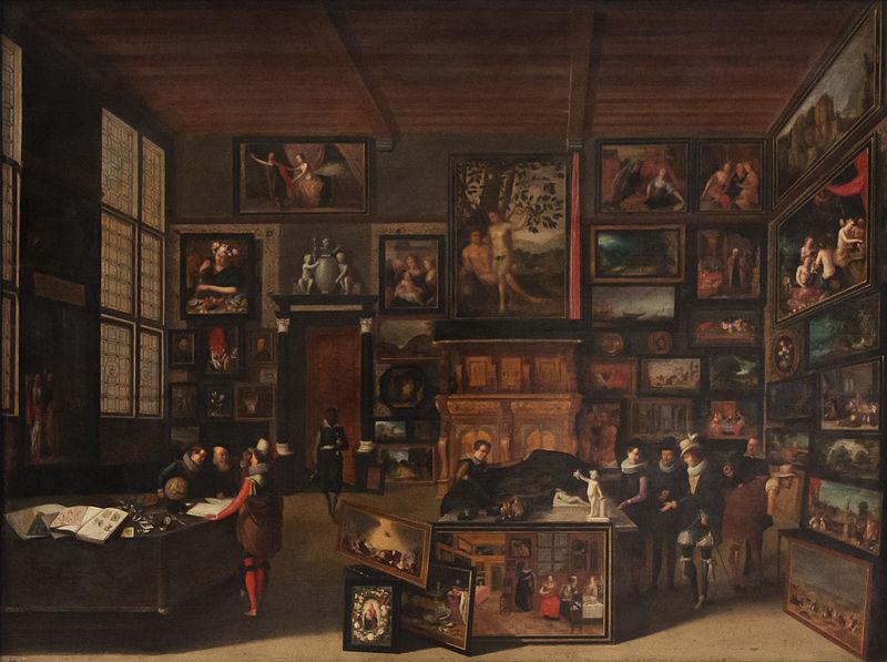 Hieronymus Francken, Kabinett eines Kunstsammlers, Brüssel Museum für schöne Kunste, 1621.