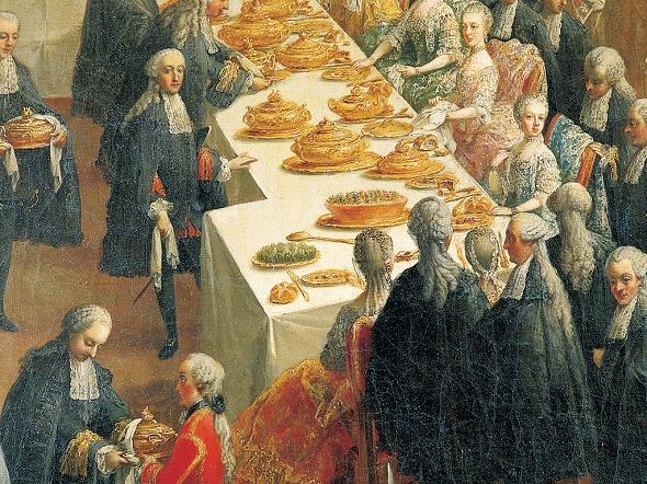 Martin van Meytens, Hoftafel - mit Kaisersemmeln