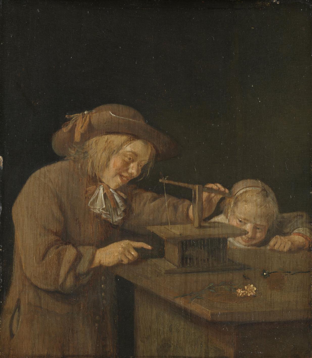 Quiringh van Brekelenkam, Die Mausefalle, Rijksmsueum, Amsterdam