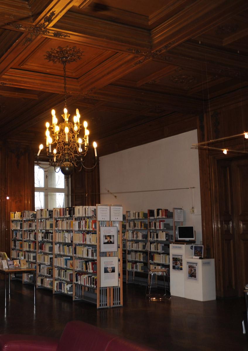 Palais Clam Gallas, Médiathèque, Detail. Foto: Ingo Wessely, Vienna